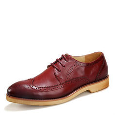 Lace-up Brogue Dress Shoes Microfiber Leather Men's Men's Oxfords