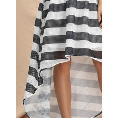Print/Geometric Print 1/2 Sleeves Asymmetrical Vintage/Elegant Dresses