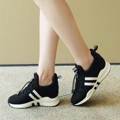 Femmes Tissu Décontractée De plein air Randonnée avec Dentelle chaussures