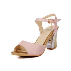 Femmes Similicuir Talon stiletto Sandales Escarpins chaussures
