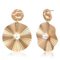 Stylish Alloy Imitation Pearls Women's Fashion Earrings (Set of 2)