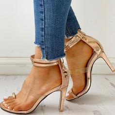 Women's PU Stiletto Heel Sandals Peep Toe shoes