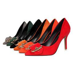 Жіночі Замша Шпилька Насоси Закритий палець з Пряжка взуття