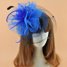 Ladies ' Elegant Kambriske med Fjer Fascinators/Kentucky Derby Hatte
