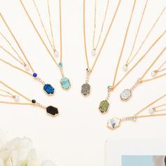 Unique À la mode Exquis Alliage avec Perle d'imitation Zircon de Colliers