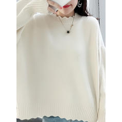 Plain Round Neck Sweaters