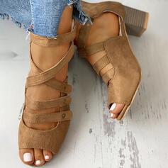 Naisten PU Chunky heel Avokkaat jossa Solki kengät