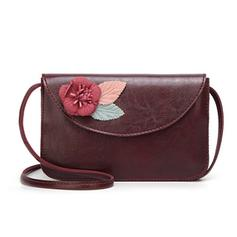 Floral PU Crossbody Bags/Shoulder Bags