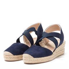 Femmes Tissu Talon compensé Sandales chaussures