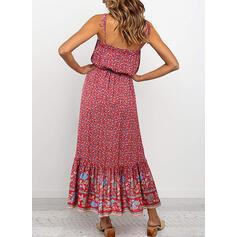 Print/Floral Sleeveless A-line Casual/Boho/Vacation Midi Dresses