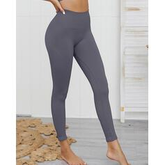 Solide Lang Casual Sexy Lang sportieve Leggings