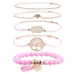 Alliage Bracelets Bijoux de plage (Lot de 5)
