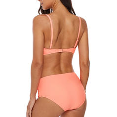Solid Color Underwire Strap Sexy Attractive Bikinis Swimsuits