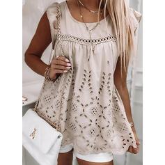 Solid Round Neck Tank Tops