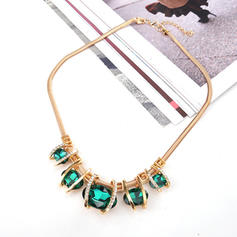 Unique Shining Alloy With Imitation Stones Necklaces