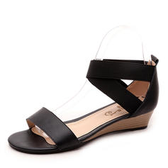 Women's Real Leather Wedge Heel Sandals Wedges Peep Toe With Others shoes