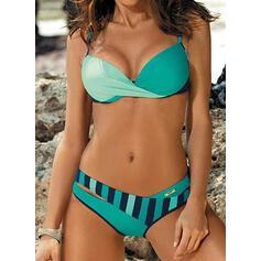 Pasek Coś pozszywanego z kawałków W prążki Seksowny Cygański Bikini Stroje kąpielowe