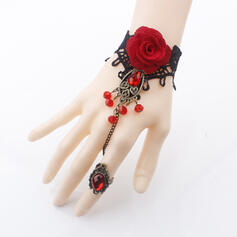 Halloween Alloy Lace With Lace Rose Bracelets 1 PC