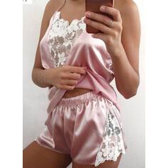 Spandex Lace Cami Set