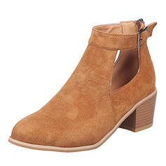 Vrouwen Suede Chunky Heel Sandalen Pumps met Gesp schoenen