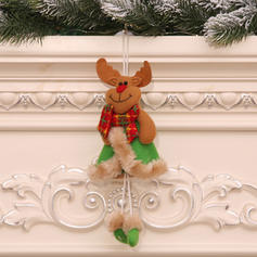 Snowman Reindeer Santa Christmas Hanging Long Leg Non-Woven Fabric Doll Christmas Décor