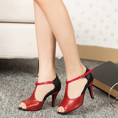 Women's Latin Pumps With T-Strap Latin