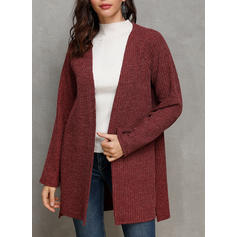 Cotton Blends Long Sleeves Plain Wide-Waisted Coats