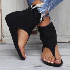 Women's Leatherette Flat Heel Sandals Flats shoes