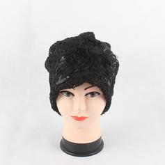 Señoras' Estilo clásico Encaje con Rhinestone Disquete Sombrero