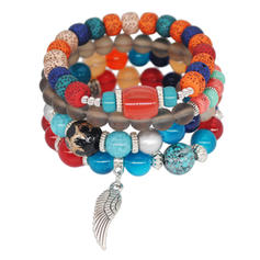 Unique Alloy Acrylic Glass Beads Ladies' Fashion Bracelets