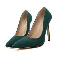 Femmes Suède Talon stiletto Escarpins Bout fermé chaussures