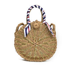 Unique/Braided Straw Shoulder Bags/Beach Bags