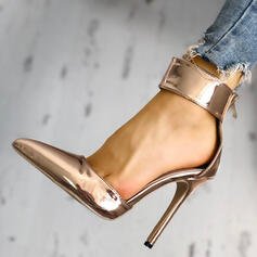 Vrouwen PU Stiletto Heel Pumps met Rits schoenen