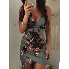 Print/Floral Sleeveless Bodycon Above Knee Sexy/Casual/Vacation Dresses