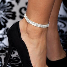 Shining Charming Alloy Rhinestones Anklets