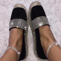 Women's PU Flat Heel Flats With Sparkling Glitter shoes