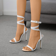 Mulheres PU Salto agulha Sandálias Bombas sapatos