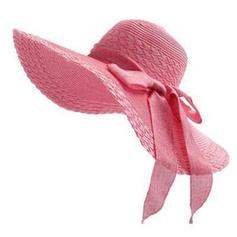 Ladies' Raffia Straw With Bowknot Beach/Sun Hats