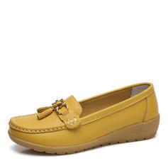 Femmes Similicuir Talon bas Chaussures plates Bout fermé avec Boucle chaussures