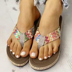 Women's PVC Flat Heel Flip-Flops Slippers shoes