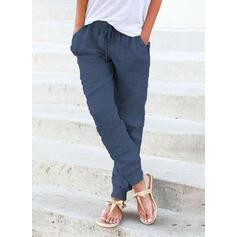 Solid Uzun gündelik Uzun Solid Pantolonlar