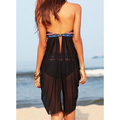 Stripe Lace Up Halter V-Neck Strapless Sexy Bohemian Classic Bikinis Swimsuits