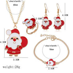 Father Christmas Alloy Jewelry Sets Christmas Jewelry