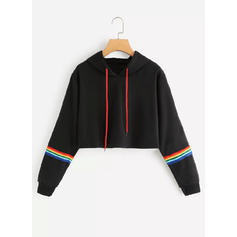 Polyester Striped Capuche
