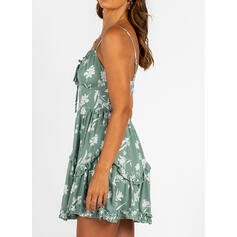 Print Sleeveless A-line Above Knee Sexy/Casual/Vacation Dresses