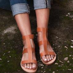 Donna PU Senza tacco Sandalo Ballerine Punta aperta con Altrui scarpe