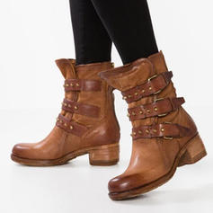PU Chunky sarok Csizma -Val Csat cipő