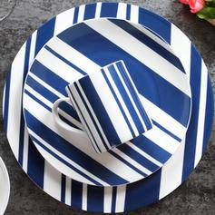 Striped Porcelain Dinnerware Sets