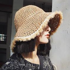 Signore Bella/Moda Malacca paglia Beach / Sun Cappelli