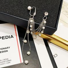 De moda Aleación La perla de faux con Perlas de imitación De mujer Pendientes de la manera